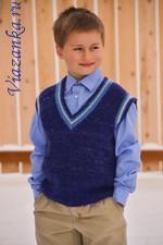 Классическая безрукавка для мальчика 8-10 лет