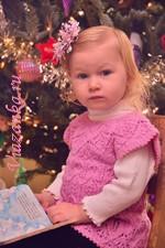 Ажурное платье-туника с полукруглой кокеткой для девочки 2-3 года