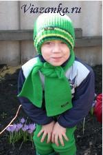 Комплект из костюма, шапки и шарфа для мальчика