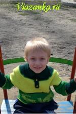 Детский свитер спицами