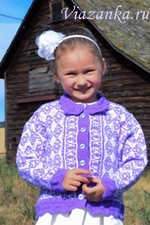 Кофта с цветами для девочки 6-8 лет