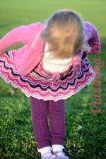 штанишки спицами для девочки 4-6 лет