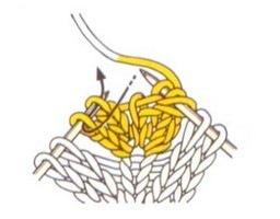 Провязывание задних петель.