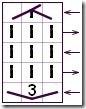 Условное обозначение Колоска с наклоном вправо.