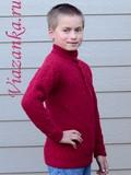 свитер с воротником миниатюра