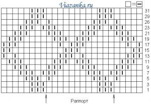 Схема вязания.