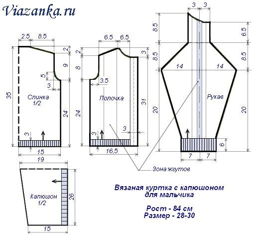 Схема вязания куртки