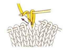 Переснимаем рабочую петлю на крючок, вытягиваем первую петлю.