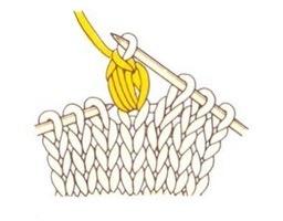 Переснимаем воздушную петлю на правую спицу для продолжения вязания.