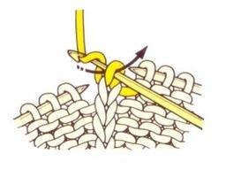 Начало вязания цепочки из трёх воздушных петель.