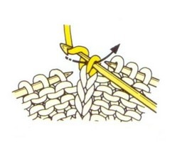 Начало провязывания цепочки из воздушных петель.