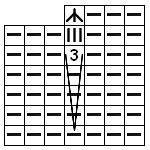 Схема вязаного полотна.