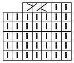 Схема вязаного полотна