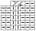 Схема провязывания элемента