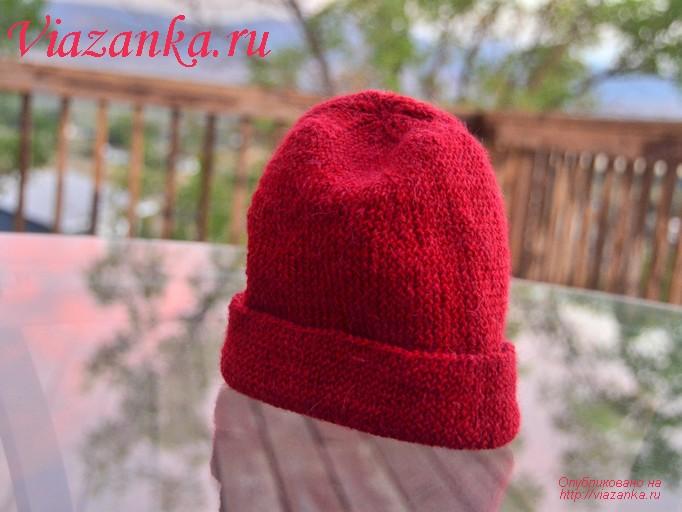 Вязание шапочки с отворотами 653