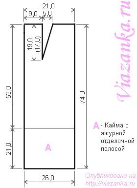 Схема выкройки прямой юбки