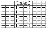 Элемент на схеме вязаного полотна