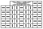 Схема вязаного полотна (перемещение влево)