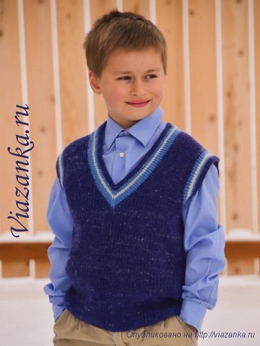 вязание безрукавки для мальчика 10лет
