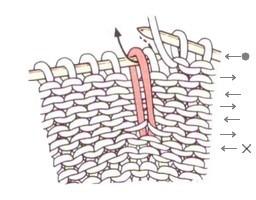 Вытянутые петли на изнаночной стороне