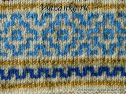 Образец вязания линивого узора
