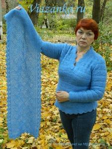 Ажурный шарф в развёрнутом виде