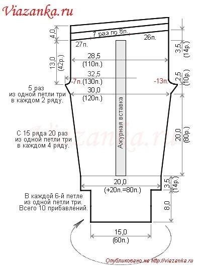 Схема вязания штанишек для