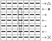 Схема вязания одиночной длинной вытянутой петли