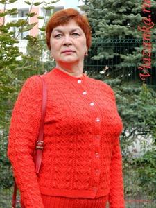 Жакет ажурного костюма