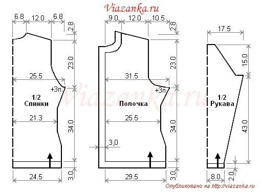 Схема вязания жакета ажурного костюма