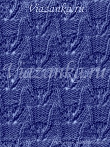 """Образец вязания ажурного узора """"Лилии"""""""