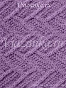 """Образец вязания узора """"Ячейки"""" с перемещениями"""