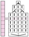 Схема вязания листика ажурного узора 2-67