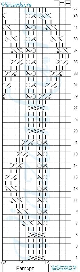 Схема вязания фантазийного