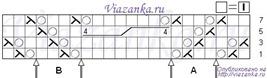 """Схема вязания узора """"Жгут на сетке"""""""