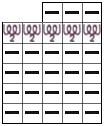 Схема вязания удлинённых петель