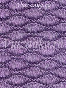 "Образец вязания ажурного узора ""Пена на волнах"""