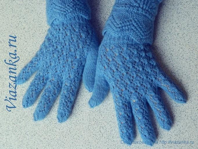 98Вязание перчаток с узорами