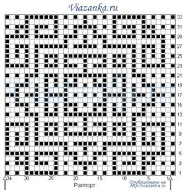 схема вязания ленивого узора