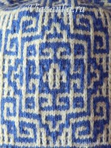 Образец вязания ленивого узора