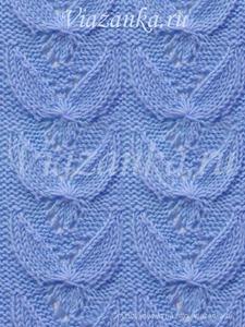 """образец вязания ажурного узора """"Синяя птица"""""""