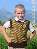 безрукавка с орнаментом для мальчика 6-7 лет