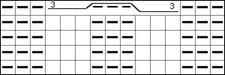 схема вязания сложного жгута