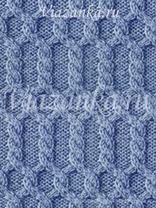 """образец вязания узора """"Колонны"""" из жгутов"""