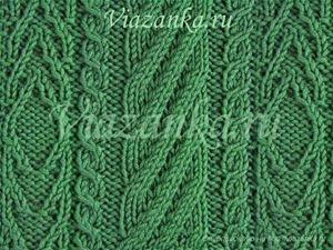 """образец вязания узора """"Плоские жгуты"""""""