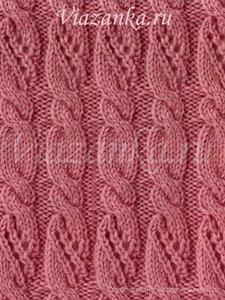 """образец вязания фантазийного узора """"Ажурные жгуты"""""""