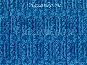 """образец вязания фантазийного узора """"Одуванчики"""""""