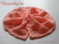 ажурный шарф для девочки