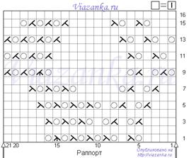 схема вязания ажурного узора улей