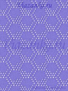 образец вязания ажурного узора улей